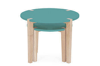 Set Of 2 Jay Teal Round Nest Of Tables