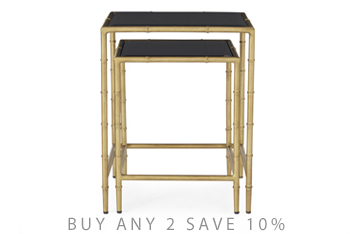 Set Of 2 Brass Effect Nest Of Tables