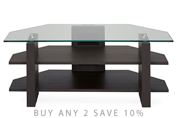 Logan Taupe Foil Glass Corner TV Unit