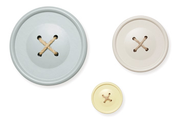 Set Of 3 Button Wall Plaques