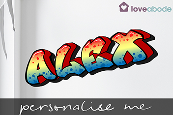 Personalised Graffiti Wall Sticker By Loveabode