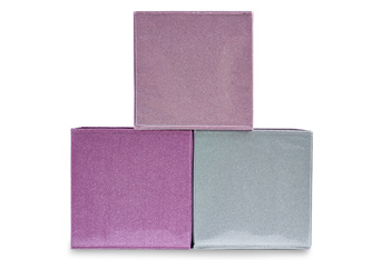 Set Of 3 Glitter Storage Boxes