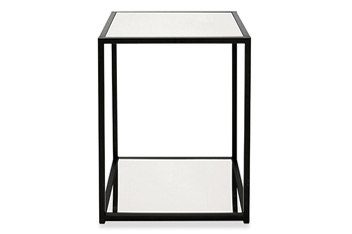 Metal And Mirror Side Table