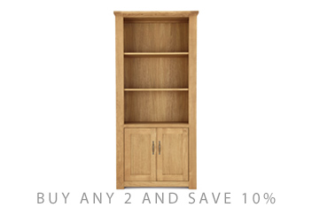 Cambridge® Light Tall Shelves With 2 Door Cupboard
