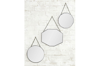 Set Of 3 Vintage Hanging Mirrors