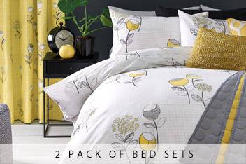 2 Pack Retro Floral Bed Set