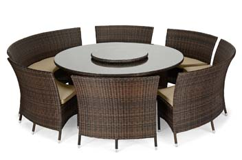 Valencia Brown 7 Piece Dining Set