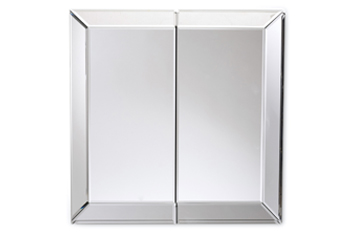 Bevelled Double Cabinet