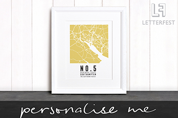 Personalised Your Address Map Print By Letterfest