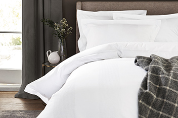 300 Thread Count Cotton Waffle Stripe Bed Set