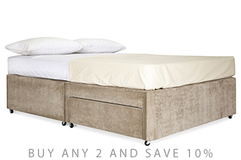 2 Drawer Upholstered Divan