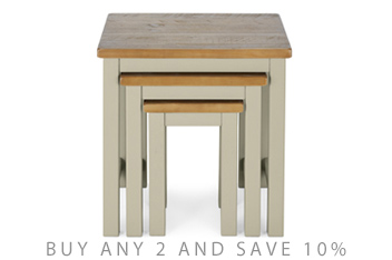 Set Of 3 Kendall Painted Nest Of Tables