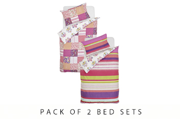 2 Pack Bright Folk Bed Set