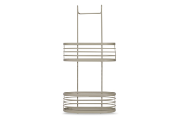 Grey 2 Tier Overdoor Bathroom Caddy