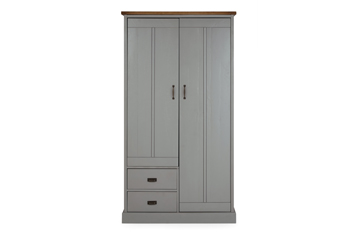 Shoreditch® Grey Wardrobe With Drawer