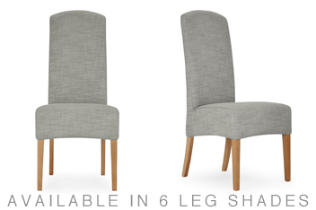 belgian soft twill mid silver set of 2 sienna dining chairs