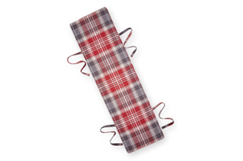 Medium Bench Pad Versatile Check Stirling Red