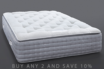 3600 Pocket Sprung Luxury Natural Pillow Top Medium Mattress