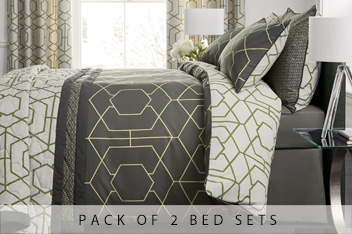 2 Pack Oversized Geo Bed Set