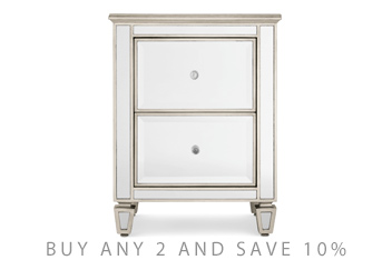 Bedside Tables Chests Small Mirrored Bedside Tables Next