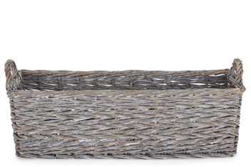 Grey Willow Long Basket