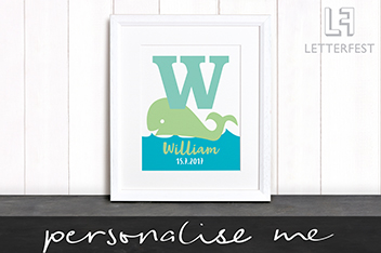 Personalised Animal Print By Letterfest