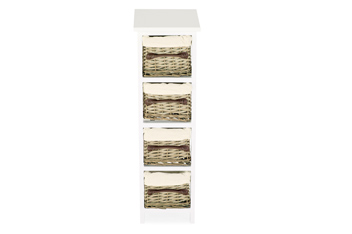 Natural Willow 4 Drawer Unit
