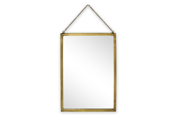 Brass Effect Hanging Mirror