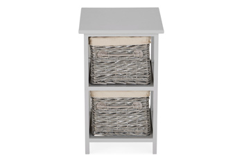 Grey Willow 2 Drawer Unit