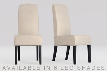 belgian soft twill light natural set of 2 sienna dining chairs
