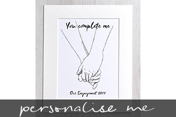 You Complete Me Special Occasion Illustration By Letterfest