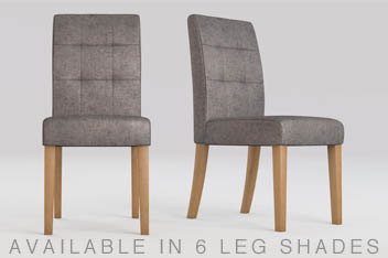 Set Of 2 Moda II Pleat Dining Chairs