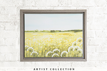 Artist Collection Yellow Meadow Framed Canvas By Janet Bell