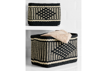 Set Of 2 Woven Ikat Baskets