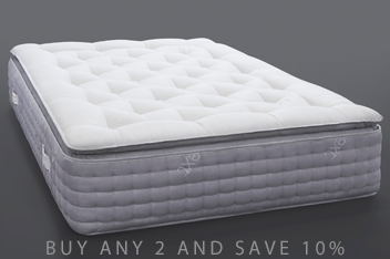 2000 Pocket Sprung Luxury Pillow Top Medium Mattress