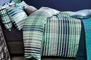 2 Pack Check Bed Set