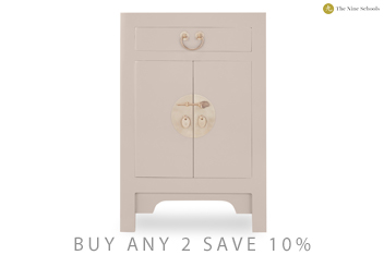 Oyster Gloss Effect Small Cabinet