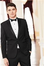 Black Skinny Fit Tuxedo Suit