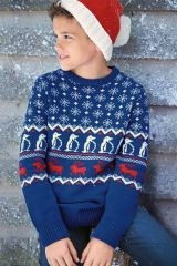 Cobalt Fairisle Pattern Knit (3-16yrs)