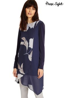 Phase Eight Navy Moon Light Floral Vinny Tunic