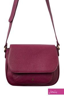 Joules Burgundy PU Saddle Bag