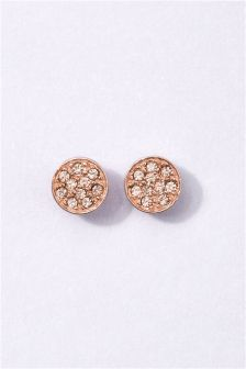 Rose Gold Plated Sterling Silver Stud Earrings