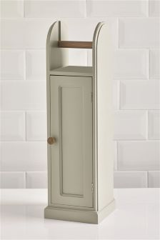 Grey Toilet Roll Stand And Storage