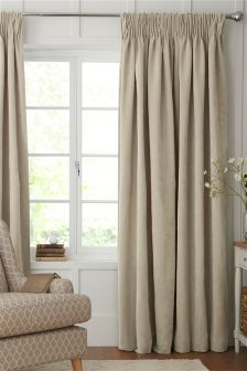 Soft Velour Pencil Pleat Curtains