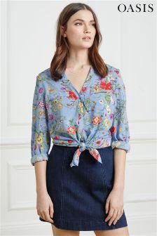 Oasis Blue Spring Floral Shirt
