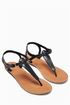 Leather Toe Thong Sandals