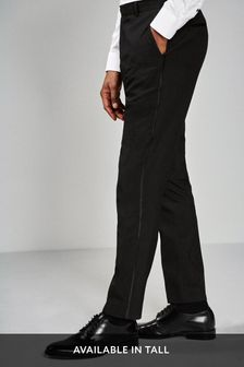 Black Tuxedo Suit: Taped Trousers