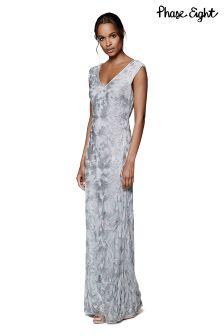 Phase Eight Pale Blue Serenna Tapework Dress