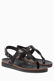 Sporty Toe Post Sandals