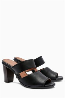 Black Forever Comfort Stitch Mules